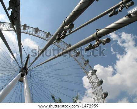 London Eye London - stock photo