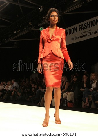 London Fashion Week Spring/ Summer 2006. A piece from Paul Costelloe collection. - stock photo
