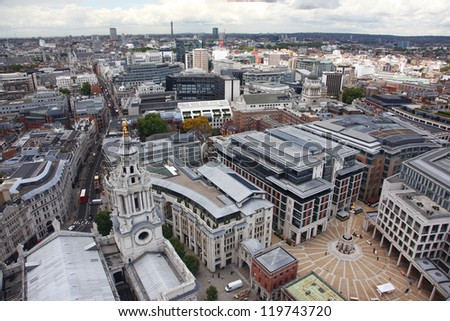 London from St Paul's Cathedral, UK - stock photo