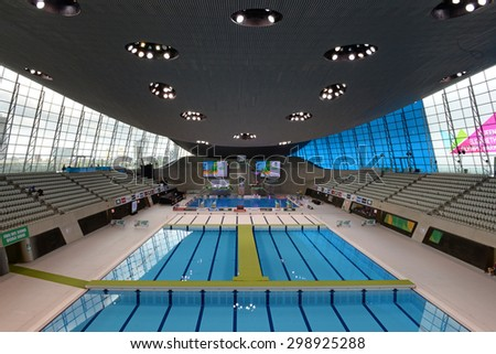 LONDON, GREAT BRITAIN - APRIL 26 2015:  during the FINA/NVC Diving World Series at the London Aquatics Centre