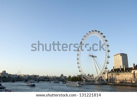 London in sunny day - stock photo