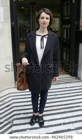 LONDON - JAN 30, 2013: Jessica Raine seen at the BBC radio two studios on Jan 30, 2013 in London