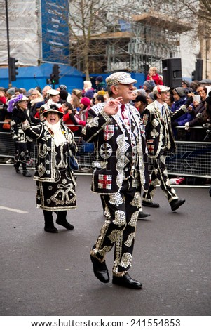 LONDON - JANUARY 1ST: New years day parade  on January the 1st 2015 in London, England, UK. The new years parade is an annual event