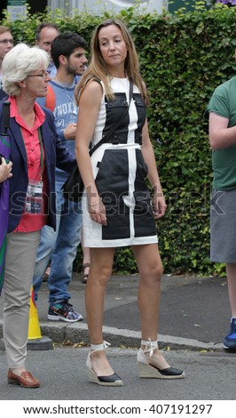 LONDON - JUL 12, 2015: Anna Eberstein seen at Wimbledon Championships on Jul 12, 2015 in London