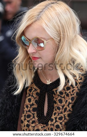 LONDON - JUL 11, 2009: Fearne Cotton seen at the BBC radio one studios on Jul 11, 2009 in London
