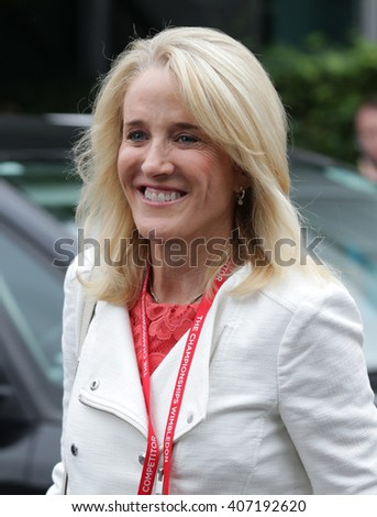 LONDON - JUL 12, 2015: Tracy Austin seen at Wimbledon Championships on Jul 12, 2015 in London