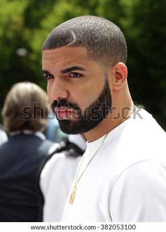 LONDON - JULY  6,  2015: Drake seen at the Wimbledon Championships on Jul 6, 2015 in London - stock photo