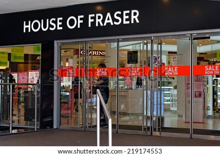 LONDON - JULY 1, 2014: The British department store House of Fraser during the Sale period.