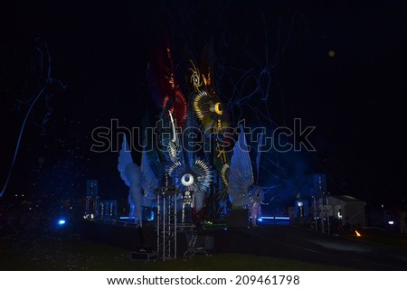 London - July 27: The Great British Carnival in the Queen Elizabeth Park, Stratford London  July 27th, 2014 in London England. - stock photo