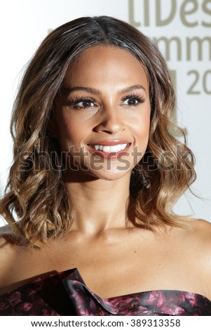 LONDON - JUN 3, 2015: Alesha Dixon attend the Together for Short Lives Midsummer Ball at Banqueting House on Jun 3, 2015 in London
