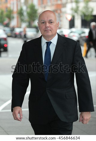 LONDON - JUN 26, 2016: Iain Duncan Smith arrives for the Andrew Marr Show at the BBC   on Jun 26, 2016 in London