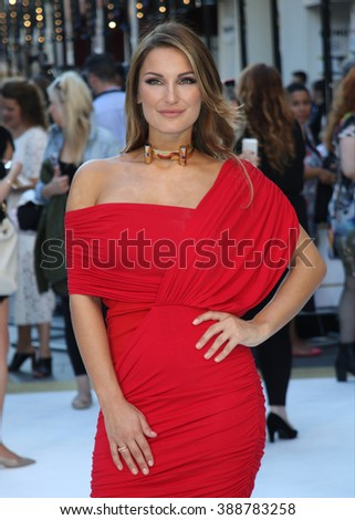 LONDON - JUN 30, 2015: Sam Faiers attends the Magic Mike: XXL - UK film premiere, Leicester Square on Jun 30, 2015 in London