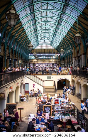 London, June 2014 - View of Covent Garden Market in London, UK. - stock photo