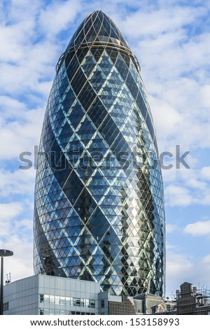 london june 3 view of gherkin building 30 st mary axe at