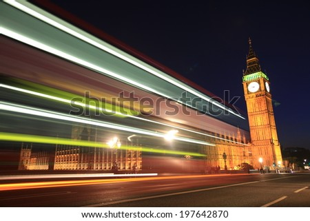 London landmark- Big Ben and House of Parliament