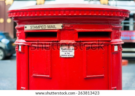 London Letterbox close up