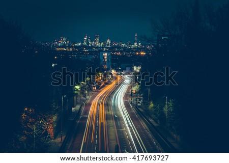 London - Long Exposure - City - Trails - Light Painting - Night - Summer - Lights