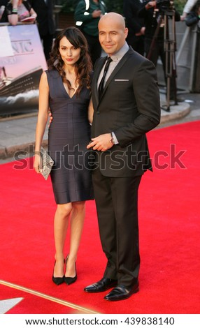 LONDON - MAR 27, 2012: Billy Zane & Candice Neil attends the Titanic 3D - World Premiere at the Royal Albert Hall on Mar 27, 2012 in London  - stock photo