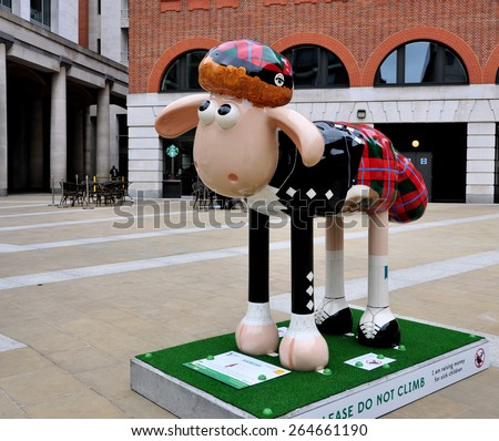 Aardmans Shaun The Sheep Characters Appear Across City