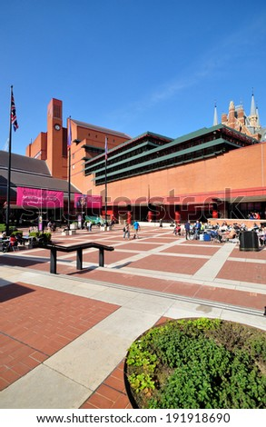 LONDON - MAY 3. A Comics exhibition at the British Library, which holds 150 million books, manuscripts, philatic and cartographic items, music scores and recordings, on May 3, 2014, in London, UK.  - stock photo