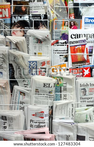 Newspapers And Magazines Stock Images, Royalty-Free Images ...