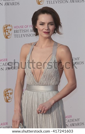 LONDON - MAY 8, 2016: Kara Tointon arrives for the House Of Fraser British Academy Television Awards at the Royal Festival Hall on May 8, 2016 in London