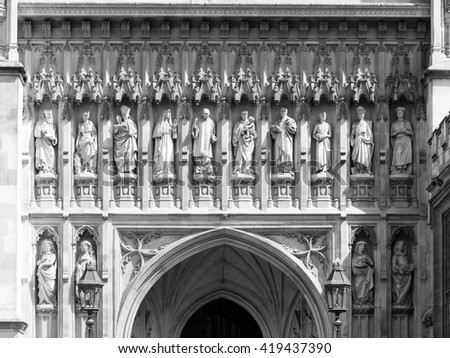 London - 08 May 2016: Statues of Christian martyrs above Great West Door of Westminster & Great West Door Stock Images Royalty-Free Images \u0026 Vectors ... Pezcame.Com
