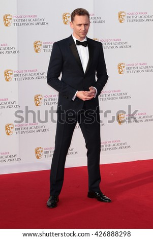 LONDON - MAY 8, 2016: Tom Hiddleston arrives for the House Of Fraser British Academy Television Awards at the Royal Festival Hall on May 8, 2016 in London