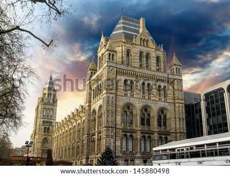 London - Natural History Museum - England - stock photo