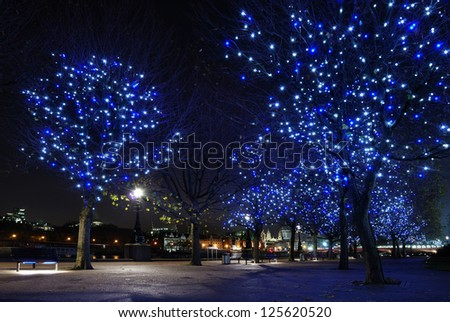 London night - stock photo