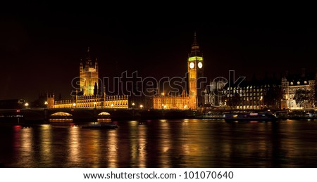 London Night big-ben - stock photo