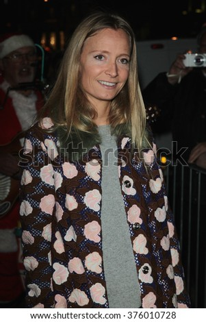 LONDON - NOV 25, 2015: Martha Ward attends the Stella McCartney store Christmas lights switching on Nov 25, 2015 in London