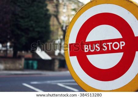LONDON - NOVEMBER 20 - 2011: Rail Replacement Bus Service TFL. Temporary Stop, Engineering Works, Tube Strike. - stock photo