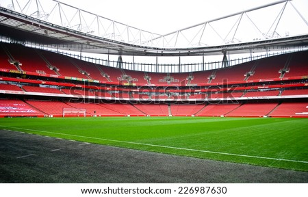 LONDON NOVEMBER 16: The Emirates stadium on November 16th, 2012 in London, UK