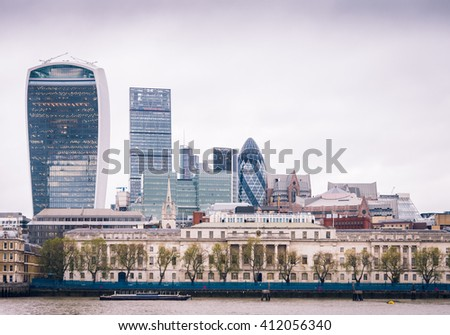 LONDON - NOVEMBER 10, 2015: The 20 Fenchurch Street ' Walkie-Talkie' building is the 5th tallest building in London.
