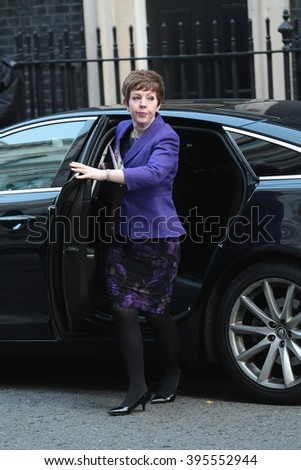 LONDON - OCT 13, 2015:  Baroness Stowell  seen at Downing Street on Oct 13, 2015 in London