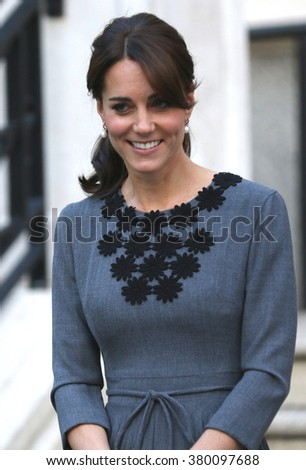 LONDON - OCT 27, 2015: Catherine Duchess of Cambridge attends the Chance UK charity event at Islington Town Hall on Oct 27, 2015 in London - stock photo