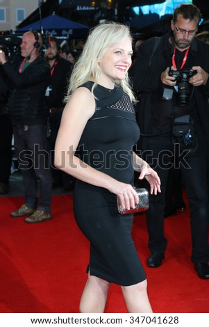 LONDON - OCT 9, 2015: Elisabeth Moss attends the High-Rise premiere at the 59th BFI London Film Festival on Oct 9, 2015 in London