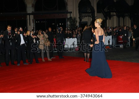 LONDON - OCT 18, 2015: Kate Winslet attends the Steve Jobs premiere and closing night gala, 59th BFI London Film Festival at the Odeon Leicester Square on Oct 18, 2015 in London