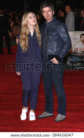 LONDON - 28, OCT 2015: Noel Gallagher and Anais Gallagher attend Burnt film premiere on Oct 28, 2015 in London