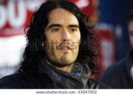 LONDON - OCT 11: Russell Brand At The Despicable Me Premiere October 11, 2010 in Leicester Square London, England. - stock photo