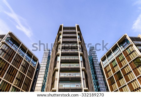 LONDON - October 25, 2015: The world's most expensive residential apartment penthouse sold in London, on January 20, 2011 for over 135 million pounds.  - stock photo