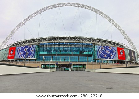 LONDON - on 25th May : Wembley Stadium, London on 25th May,2014.
