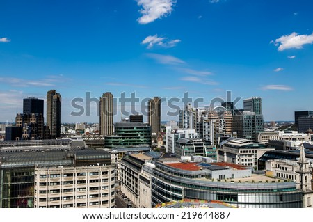 London panorama of the city