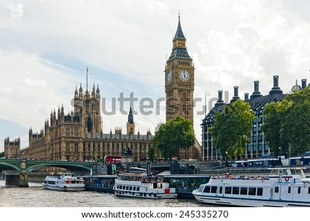 London parliament and Big Ben Great of Bell Westminster - stock photo