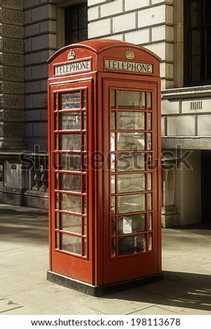 London phone box - stock photo