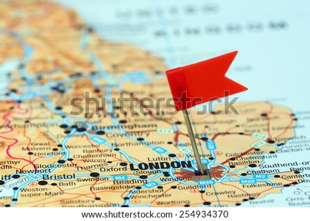 London Flag Stock Images RoyaltyFree Images Vectors Shutterstock - London map in europe