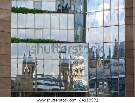 London reflections - stock photo