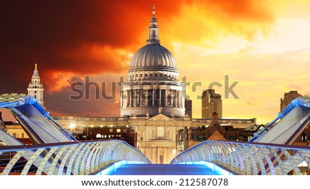 London - Saint Paul's Cathedral  - stock photo