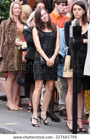 LONDON - SEP 14, 2012: Naomi Watts on set filming scenes for the movie Diana on Sep 14, 2012 in London  - stock photo